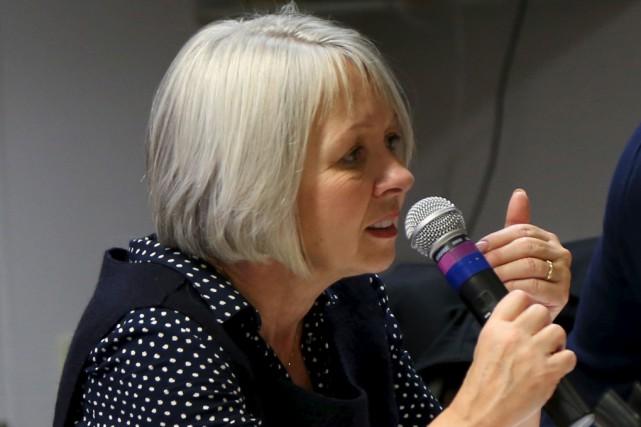 La présidente de la CS des Hautes-Rivières, Andrée... (Janick Marois)