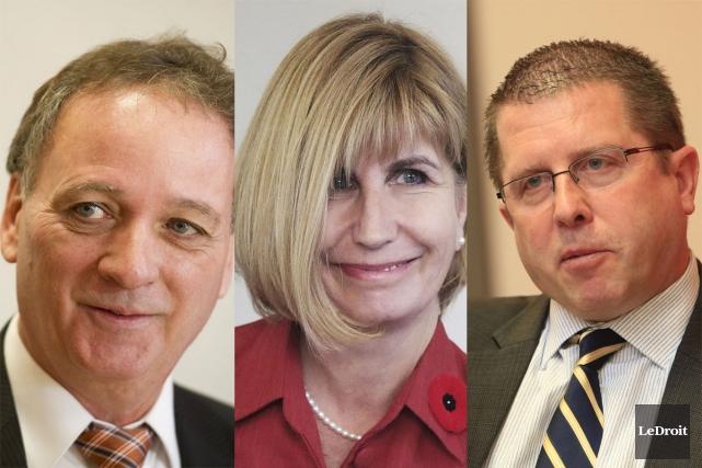 Claude Bisson (NPD), Nathalie Des Rosiers (PLO) et... (Archives, LeDroit)