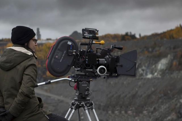 Chloé Robichaud sur le plateau de tournage de... (fournie par les Films Séville)