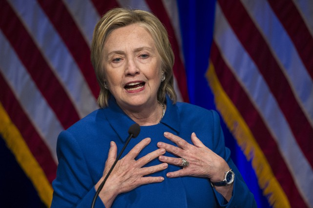 Hillary Clinton, à Washington, le 16 novembre 2016... (AP, Cliff Owen)
