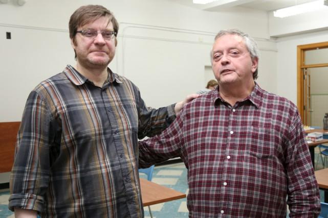 Sylvain Courtemanche et Roger Laporte, deux administrateurs du... (photo Christophe Boisseau-Dion)