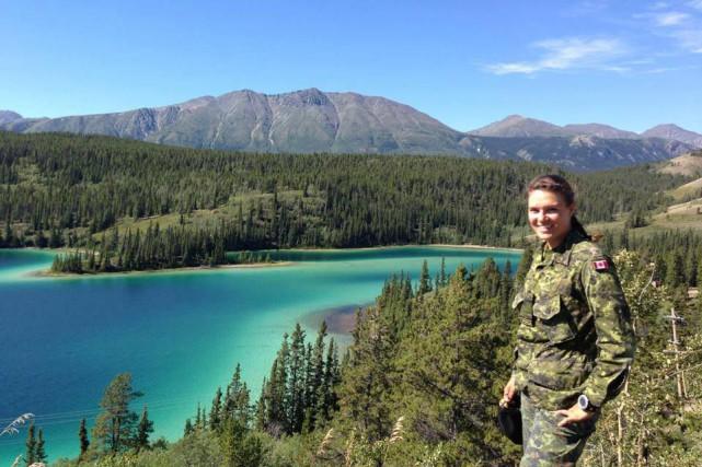 La capitaine Vanessa Chamberland, originaire de Québec, avait... (Photo tirée de Facebook)