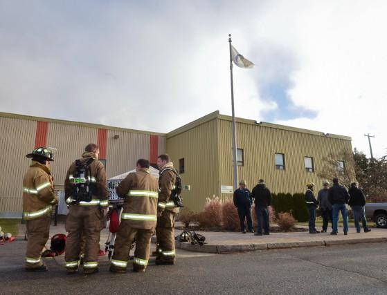 Les employés de l'usine Arbec ont été évacués... (Photo: Francois Gervais)
