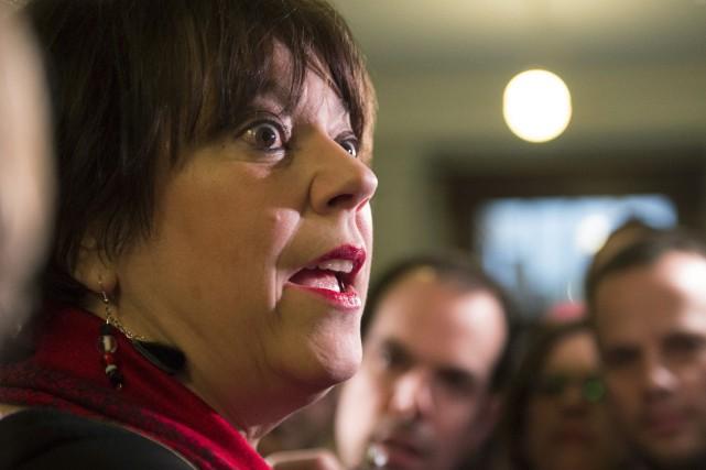 La ministre de l'Enseignement supérieur, Hélène David... (La Presse Canadienne, Jacques Boissinot)