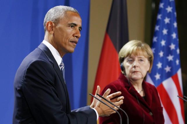 Le président américain Barack Obama prend la parole... (photo Kevin Lamarque, REUTERS)