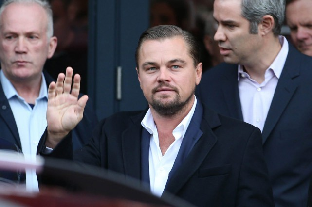 Leonardo DiCaprio était l'invité du restaurant Home.... (PHOTO AP)