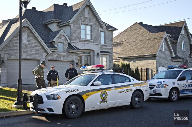 La résidence d'Andrew Scoppa, influent chef de clan de la mafia montréalaise, a... (Photo Patrick Sanfaçon, La Presse)