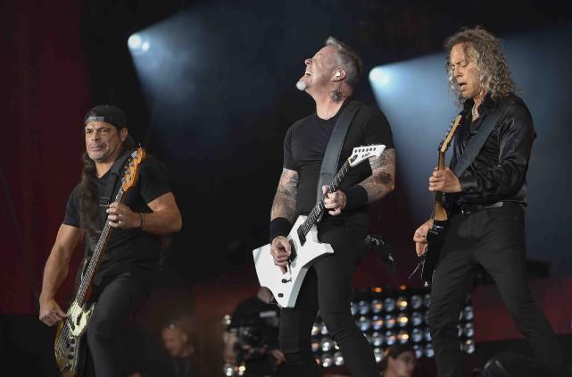 Trois des quatre membres de Metallica : Robert... (AP, Evan Agostini)