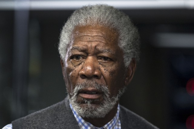 L'acteur Morgan Freeman, en 2013... (Peter Mountain, pour Warner Bros.)