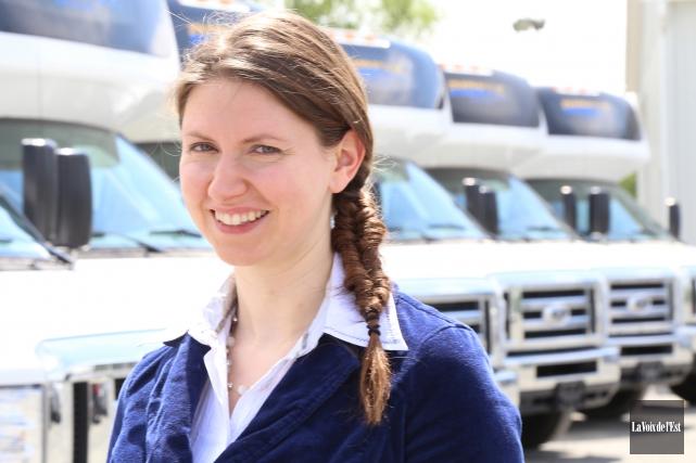 La directrice générale d'Ami-Bus, Julie Gauthier... (archives La Voix de l'Est)