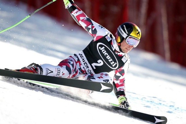 Marcel Hirscher à Beaver Creek, en 2015... (PHOTO Erich Schlegel, USA Today Sports)