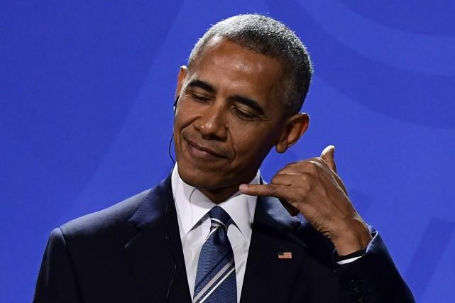 Barack Obama a rendu hommage à la chancelière... (AFP)