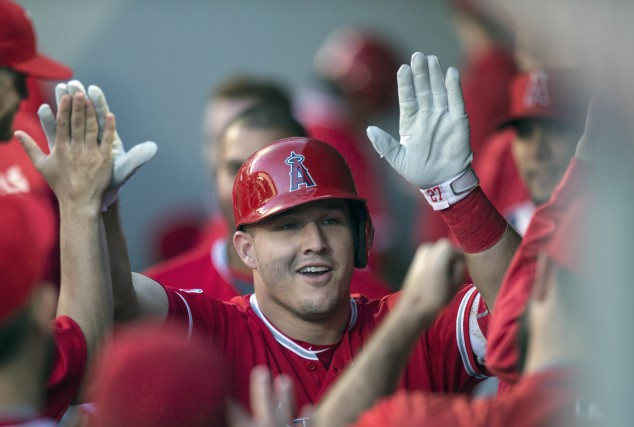 Mike Trout, des Angels de Los Angeles, a... (AP)