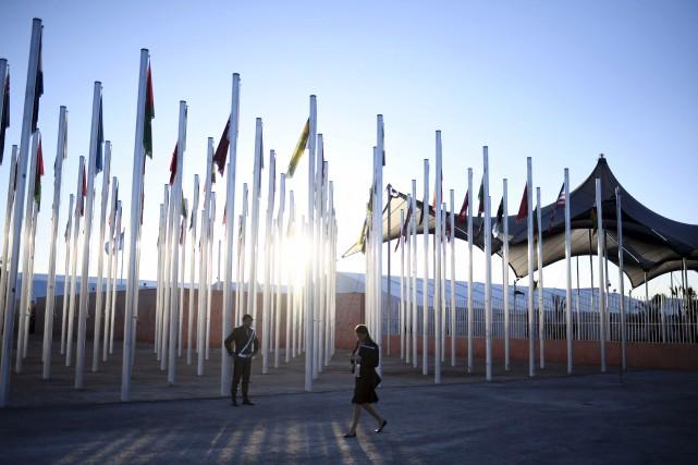 En mission à Marrakech, au Maroc, pour la... (AFP, STEPHANE DE SAKUTIN)