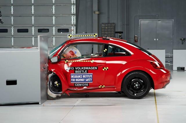 L'impact sur Volkswagen est dur et les employés... (Photo : IIHS)