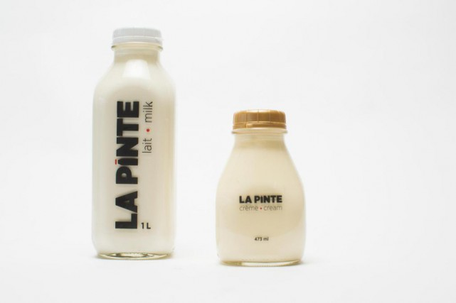 Le lait La Pinte est proposé en format... (Photo Olivier PontBriand, La Presse)