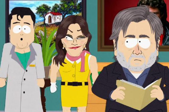 Steve Bannon dans South Park... (Image fournie par Comedy Central)