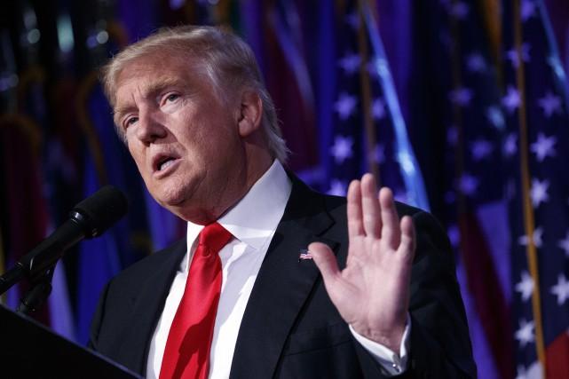 Le président désigné des États-Unis, Donald Trump... (Archives, Associated Press)