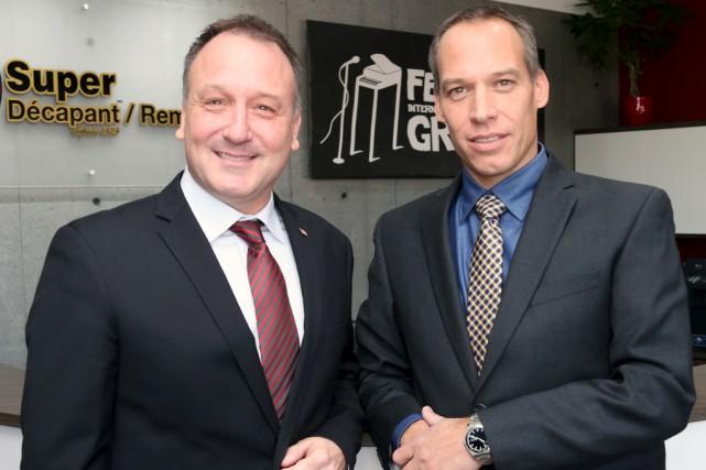 Le député fédéral de Shefford, Pierre Breton, et... (Christophe Boisseau-Dion)
