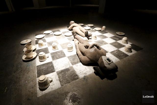 La pièce «En aval d'ici, en amont de... (Simon Séguin-Bertrand, Le Droit)