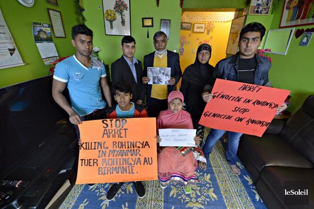 La famille Mohammed de Québec dénonce les persécutions... (Le Soleil, Pascal Ratthé)