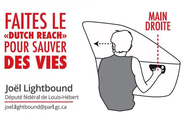 Cet autocollant lancé par Joël Lightbound pour contrer... (Image fournie par le bureau de Joël Lightbound)