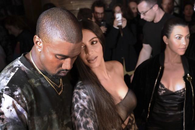Kanye West et Kim Kardashian... (AFP)