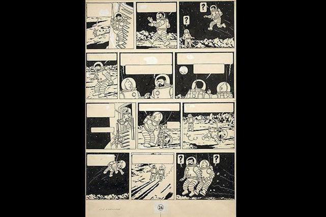 L'illustration en encre de Chine de On a... (Photo AP/Archives Herge-Moulinsart2016)