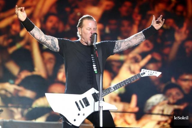 Le chanteur et guitariste James Hetfield et son... (Photothèque Le Soleil)