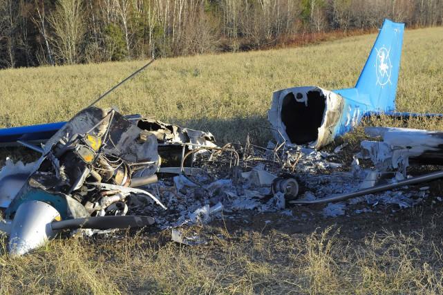 Un pilote a eu toute une frousse, samedi... (Le Progrès-Dimanche, Gimmy Desbiens)