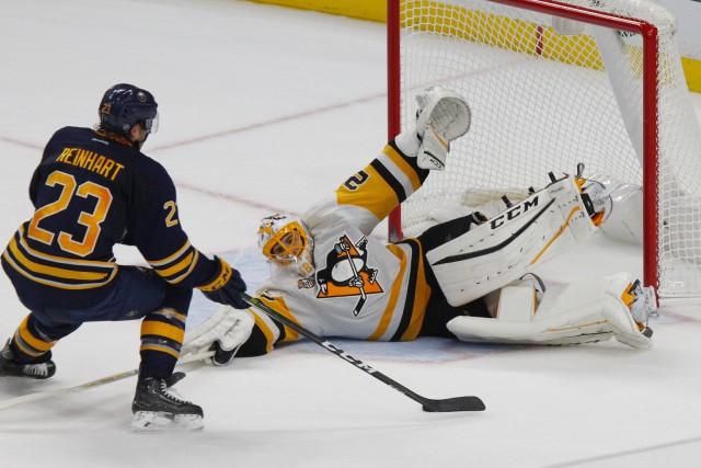 Cal O'Reilly a marqué le seul but lors de la séance de tirs de barrage et les... (Photo AP)