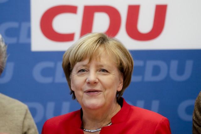 En poste depuis 11 ans, Angela Merkel détient... (AP, Markus Schreiber)