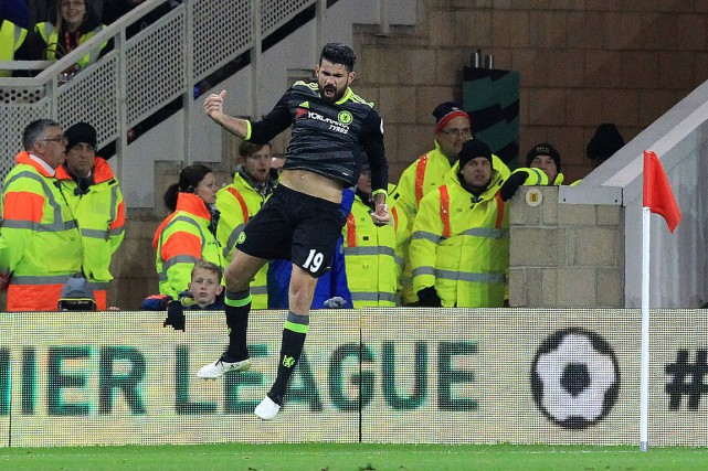 Diego Costa a marqué le seul but du... (PHOTO LINDSEY PARNABY, AFP)