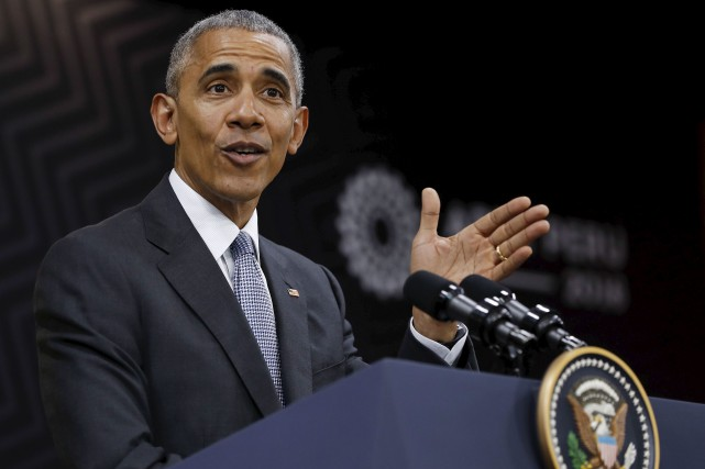 Barack Obama a donné une conférence de presse... (AP, Pablo Martinez Monsivais)