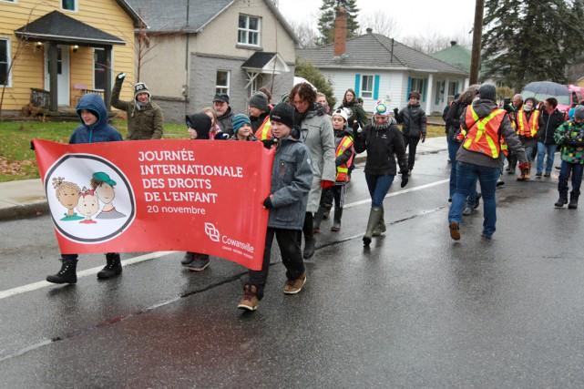 Une trentaine de personnes ont pris part à... (Catherine Trudeau)