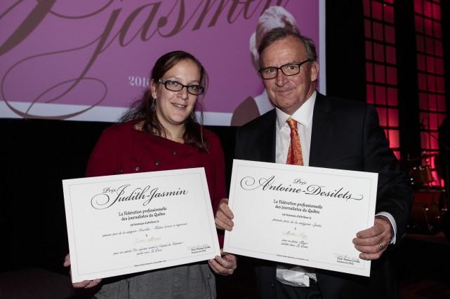Justine Mercier a reçu le prix Judith-Jasmin pour... (Hugo-Sébastien Aubert, La Presse)
