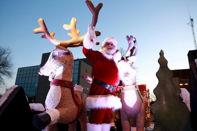 Le père Noël dans toute sa splendeur.... (Catherine Trudeau)