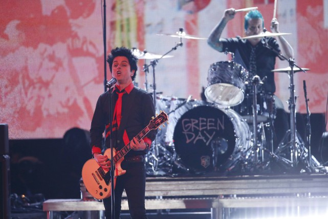 Green Day a ainsi scandé «No Trump! No... (PHOTO ARCHIVES REUTERS)