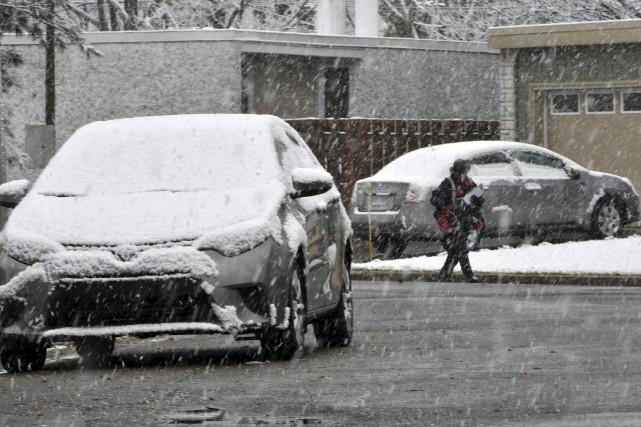 La région a connu sa première chute notable de neige lundi. Même si on est loin... (Stéphane Lessard, Le Nouvelliste)