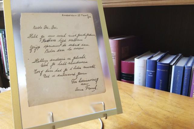 Le poème qualifié d'«extrêmement rare» a été écrit... (AFP, Maude Brulard)