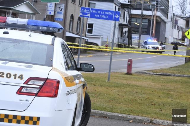 Un meurtre a été commis à Jonquière, dimanche.... (Photo Le Quotidien, Michel Tremblay)