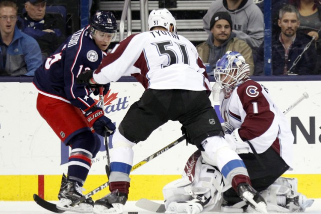 Matt Duchene a marqué à 1:49 de la période de prolongation à son premier match... (PHOTO AP)
