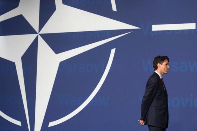 Justin Trudeauau sommet de l'OTAN en juillet dernier.... (ARCHIVES PC)