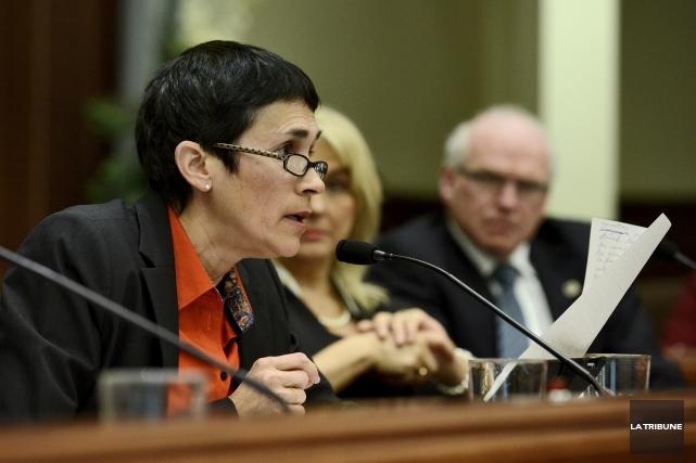 La conseillère Nicole Bergeron a expliqué son inconfort... (Archives, La Tribune)