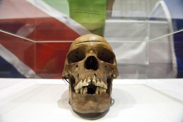 Crâne provenant de Namibie, une colonie africaine qui... (AFP, John MacDougall)
