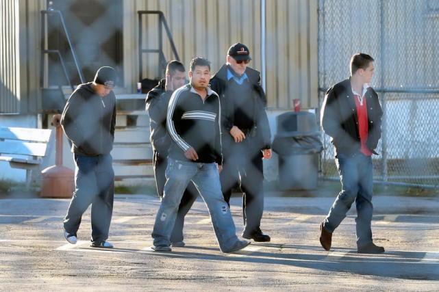 Les travailleurs guatémaltèques sont détenus depuis le 26octobre... (Photo Robert Skinner, La Presse)