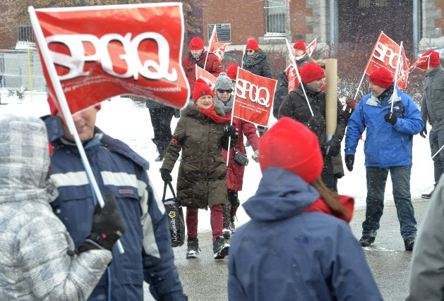 Une centaine de professionnels du gouvernement du Québec... (Spectre Média, Maxime Picard)