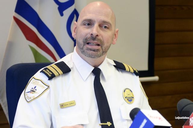 Le capitaine à l'administration policière et au développement... (Photo Le Quotidien, Jeannot Lévesque)