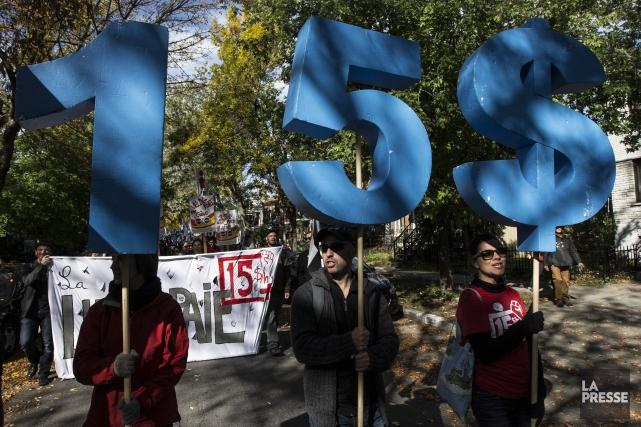 La campagne 5-10-15, qui réunit plusieurs centrales syndicales,... (La Presse)
