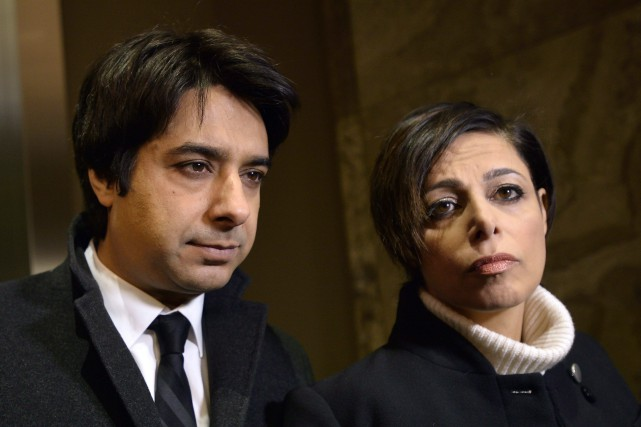 Jian Ghomeshi et son avocate, Marie Henein... (THE CANADIAN PRESS)